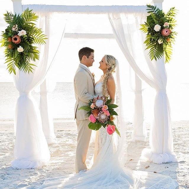Cloth Wedding Arch