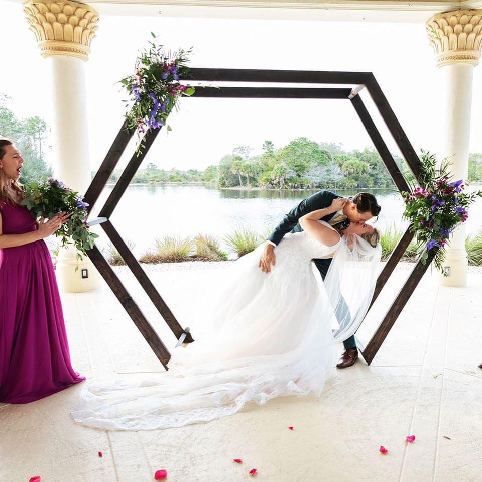 Geometric Wedding Arch