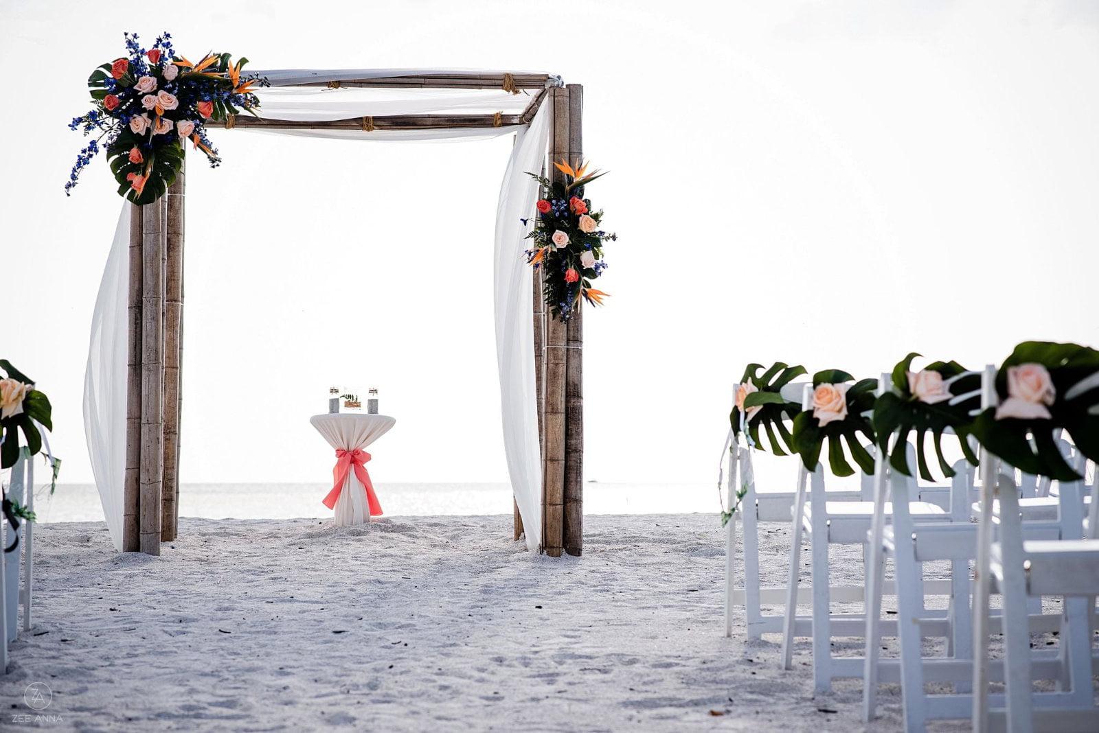 Natural Foliage Beach Wedding Arch