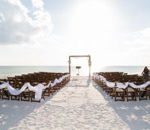 Lovers Key Wedding Ceremony Setup